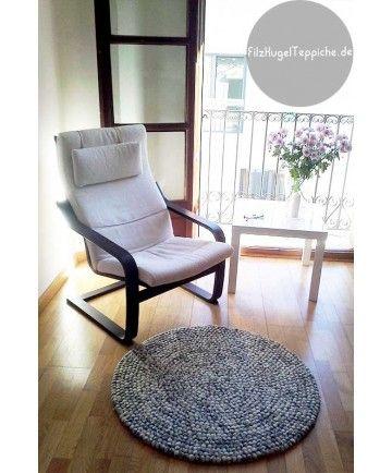 Teppich rund grau filz  Die besten 20+ Filzkugel teppich Ideen auf Pinterest | Filzkugel ...