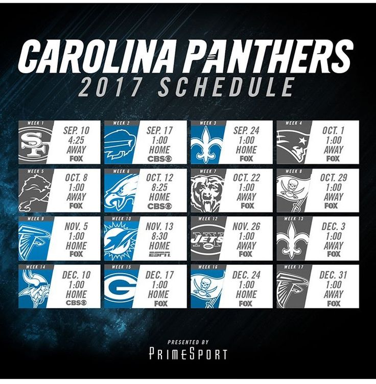 17 Best ideas about Carolina Panthers Football Schedule on ...