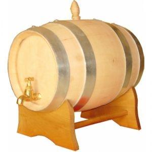 Botte in Ciliegio Botte in Rovere Francese con capienza massima 10 litri completa di tappo, supporto e rubinetto ottone.
