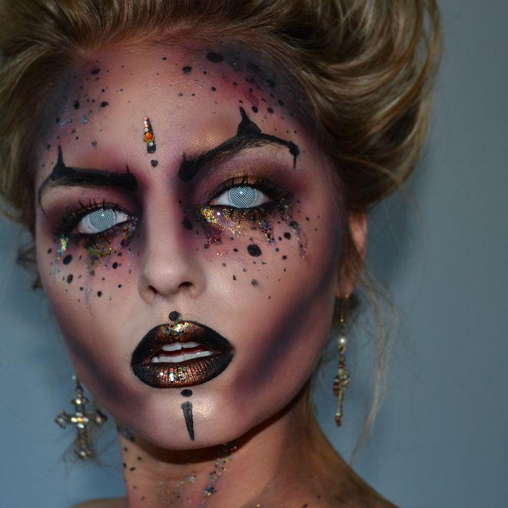 Devil inspired Halloween makeup