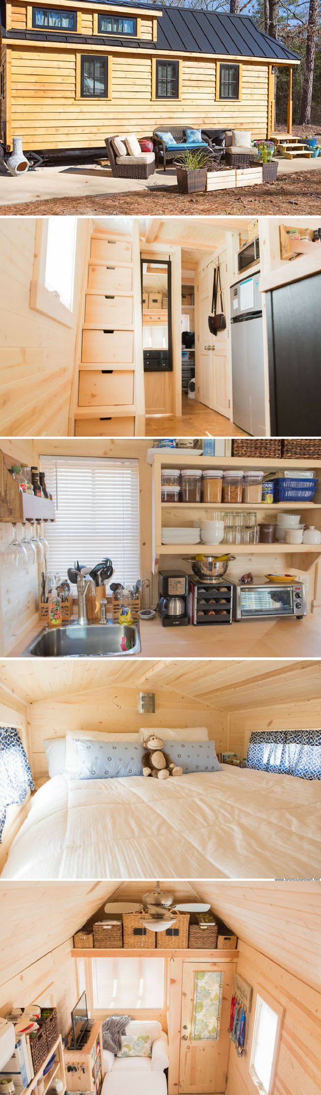 "Lora's ""Cypress"" tiny home from the Tumbleweed Tiny House Company"