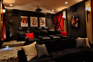 interior design firms houston - ransitional Interior Design Wills - modern - media room - houston ...