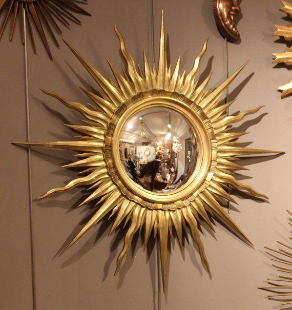 Gold Sunburst Mirror Antique Sunburst Mirror Vintage Sunburst