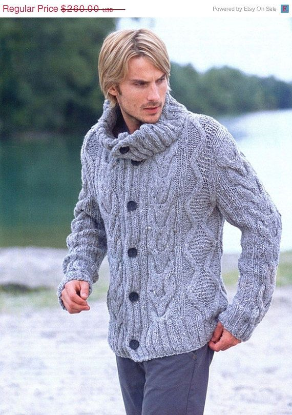 10 OFF SALE MADE To Order Sweater men hand by LuxuryKNITTING2013, $234.00