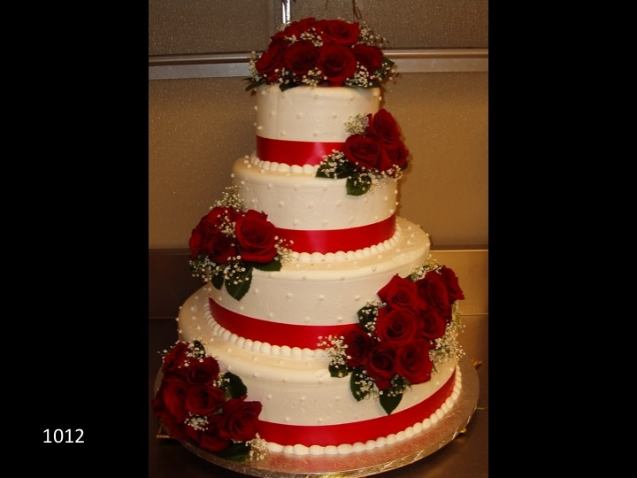 4 tier wedding cake with red roses 17 best images about 4 tiered wedding cakes on 10424