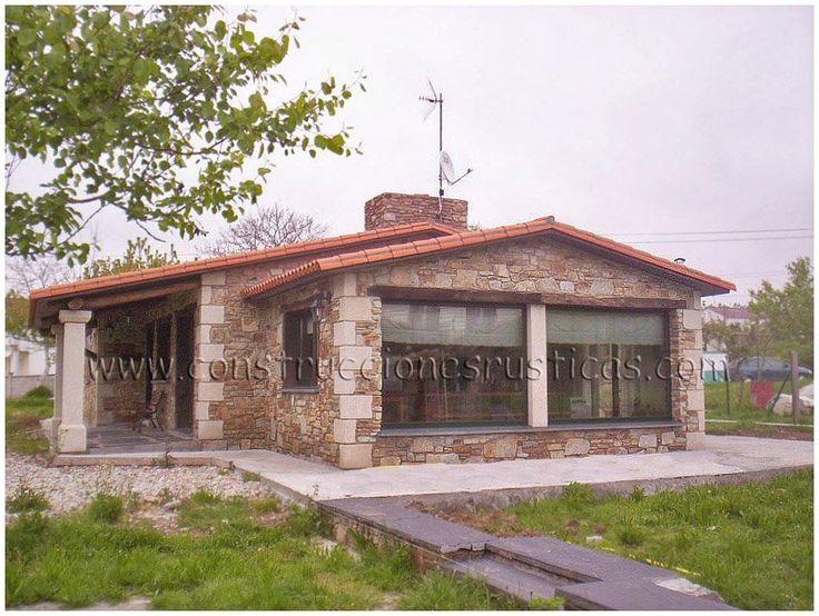 Planta baja casas con porche pinterest casas con for Exteriores de casas rusticas