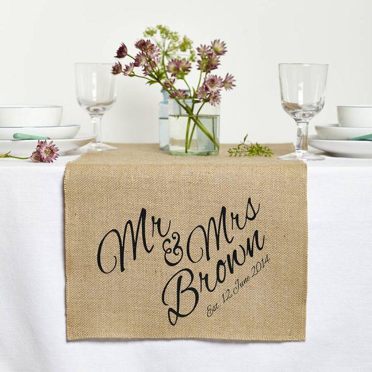 mr and mrs wedding table runner - Wedding Table Runners