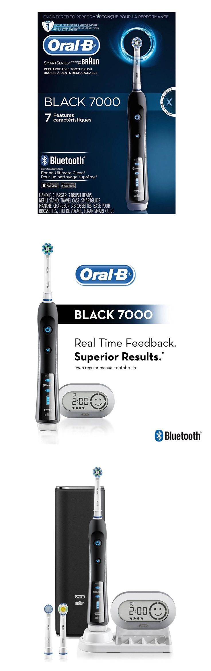 Electric Toothbrushes: Oral-B Precision Black 7000 Rechargeable Electric Toothbrush Brand New Sealed -> BUY IT NOW ONLY: $109.95 on eBay!
