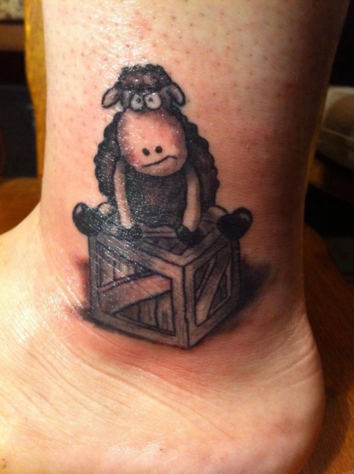 39 best tat images on pinterest lamb tattoo sheep and lambs for Black sheep tattoo