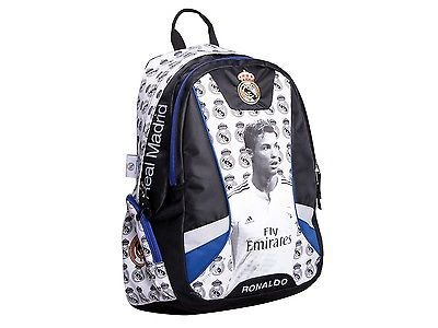Official Real Madrid Cristiano Ronaldo White School Bag Backpack Youth And kids