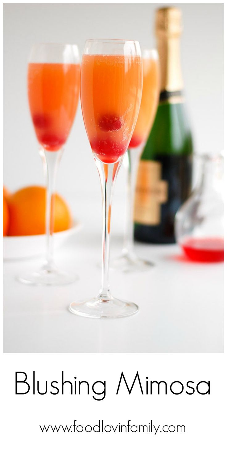 Blushing Mimosas | http://www.foodlovinfamily.com/blushing-mimosas/