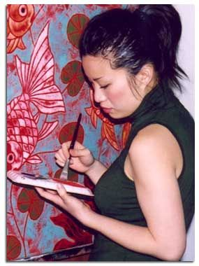 Paintings by Poh Ling Yeow, a Malaysian-born Australian artist, actress and runner-up in MasterChef Australia.