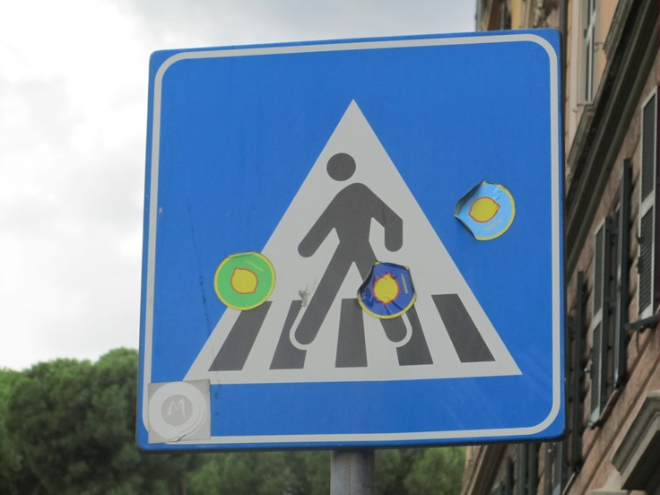 Sign, Rome, Italy