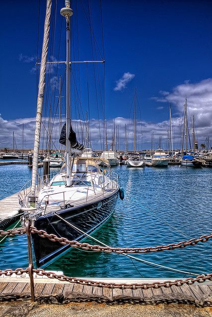 Sailboat in the Canary Islands