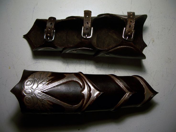 Assassins Creed Leather Bracers by MirabellaTook.deviantart.com on @deviantART