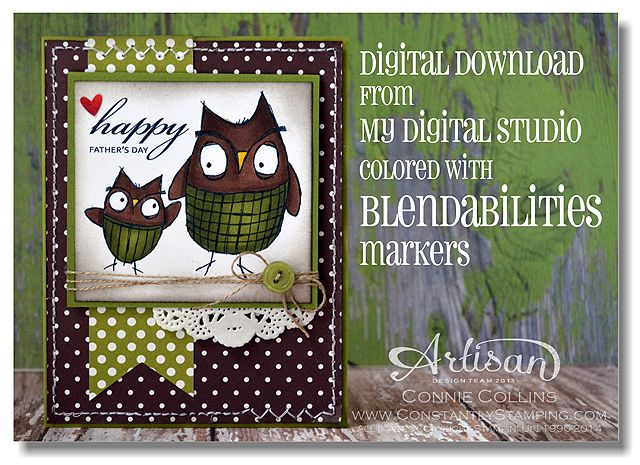 y Digital Studio by Stampin' Up!  and Blendabilities; Love ya dad!