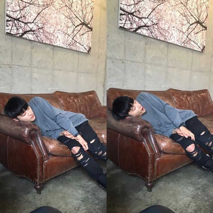 J.Seph - K.A.R.D That's my adorably awkward cute lil bias having a nap on the couch right there