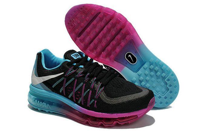 pretty nice deebf cae68 Free Shipping Only 69  WMNS Nike Air Max 2015 Black Blue Lagoon Raspberry  Fuchsia Glow