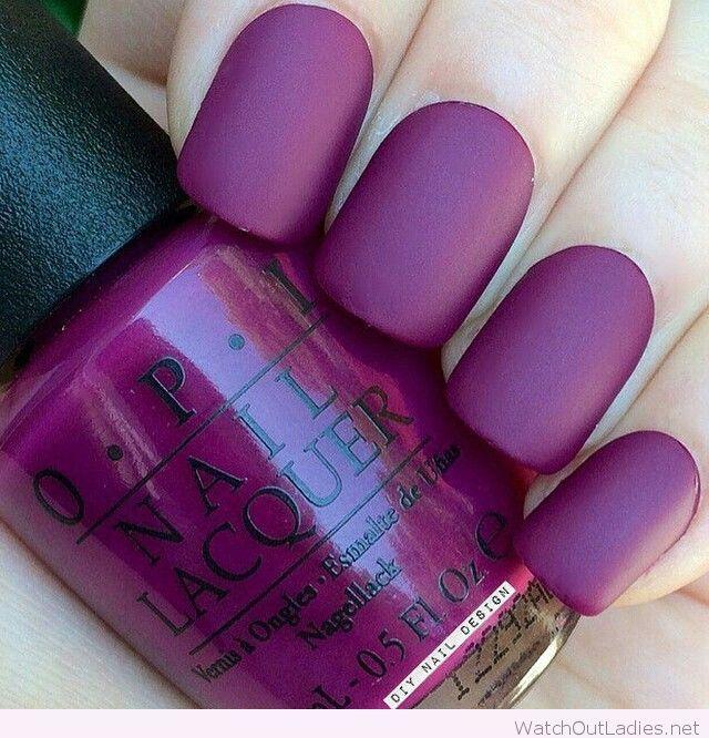 Stunning purple matte polish