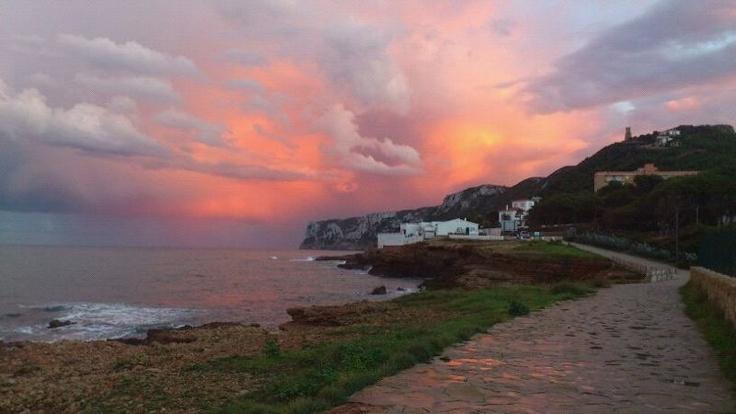 Denia sunset in las Rotas Precioso amanecer en las Rotas