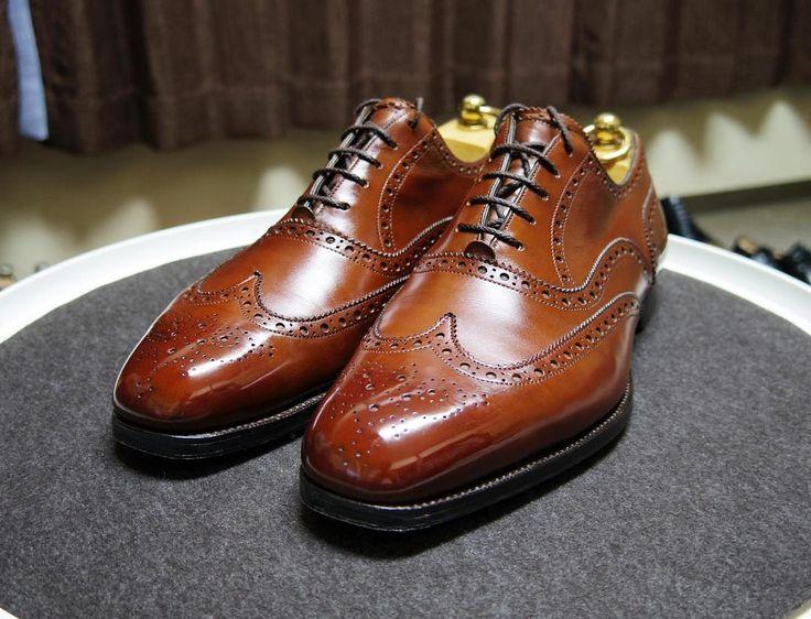 Edward Green 明日の靴 ものすごく早い出発します #edwardgreen #edwardgreenmalvern #malvern #shoes #mensshoes #shoecare #エドワードグリーン #マルバーン #紳士靴 #革靴 #靴磨き #シューケア