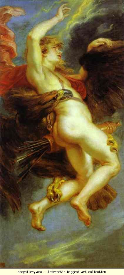 Peter Paul Rubens. The Abduction of Ganymede. Oil on canvas. Museo del Prado, Madrid, Spain