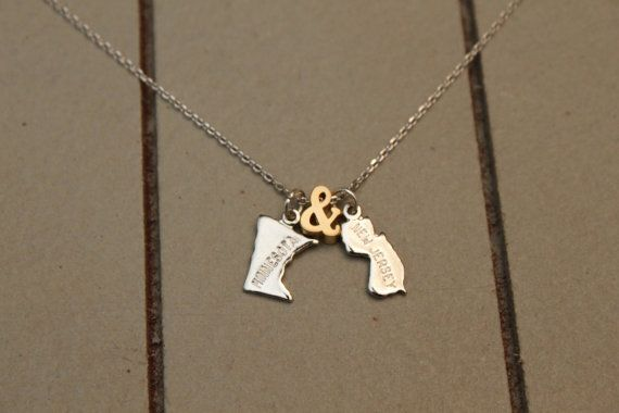 This adorable, dainty necklace is a great way to celebrate where you come from. Perfect gift for that special someone that might be far away or