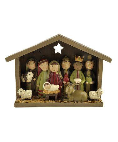 Look what I found on #zulily! Nativity Figurine by Blossom Bucket #zulilyfinds