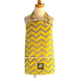 APRON SMOCK YELLOW CHEVRON - $21.95 - These stylish waterproof, stain-resistant Jaq Jaq Bird aprons are designed for the modern family who demands high style, excellent performance, and safety for their kids and the environment.Apron measures 43.80cm long and 53.35cm wide.    Suitable for ages 4 to 8 years. #sweetcreations #kids #gift #jaqjaqbird