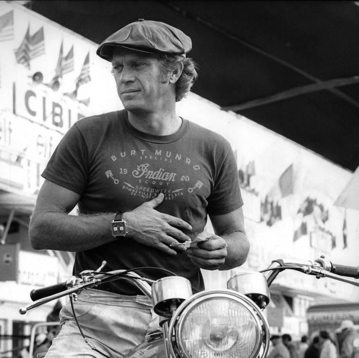 It's a #fake, a #mockup but also a #dream... #fan #style #fantasy #stevemcqueen the #king of #cool on a #motorcycles wearing a #t-shirt celebrating #burtmunro's record at the #bonneville #saltflats #speedweek 26th august 1967
