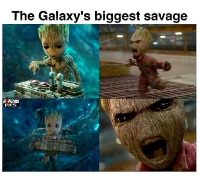 Baby Groot << happy groot on the left, angry groot on the right.