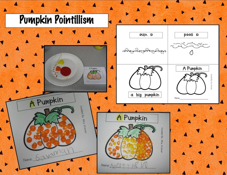 Kindergarten Crayons: pumpkin mini book