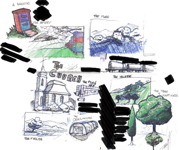 train doodles