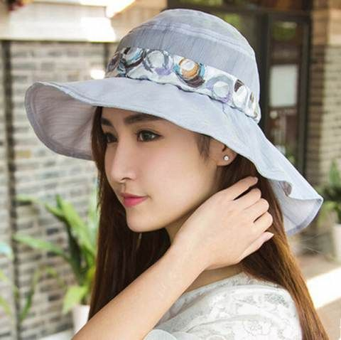 Summer ladies sun hat with bow sun protection hats outdoor wear