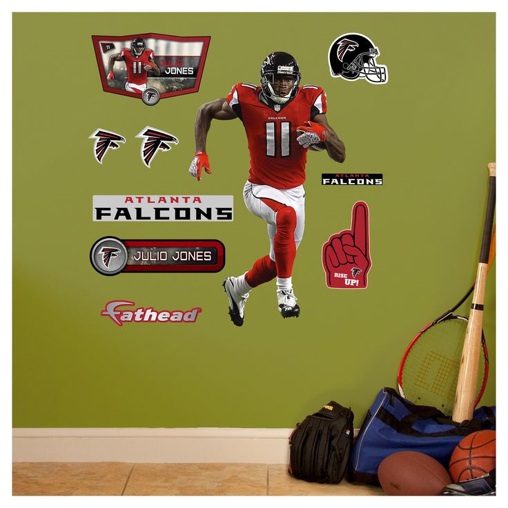 "Atlanta Falcons Fathead Decorative Wall Art Set - 40x3""x3"", Alabama Crimson Tide"