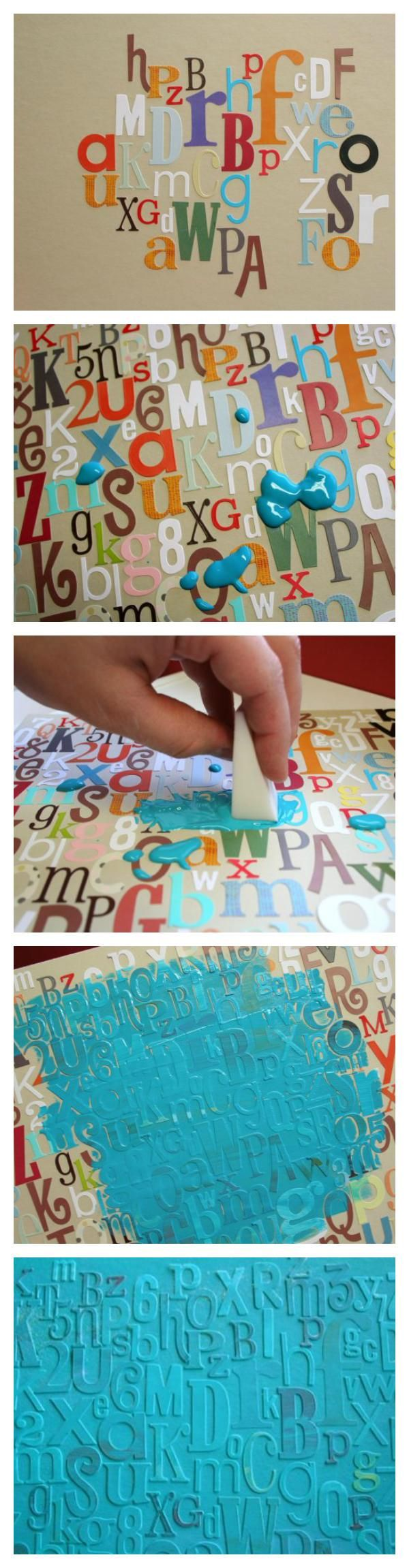 A great way to use up all those extra random leftover alphabet stickers! www.fiskateers.com