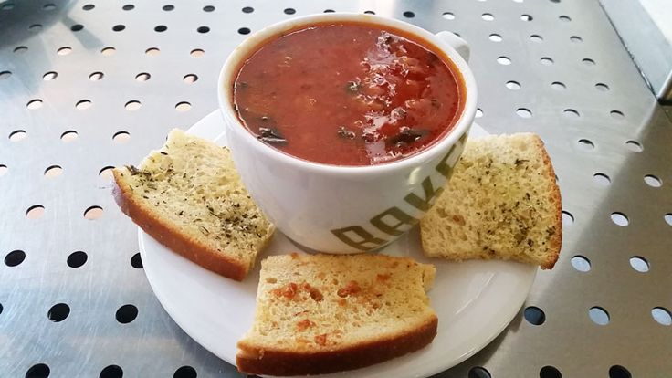 An interesting and filling Mediterranean Tomato soup at Bakeshop in the Prague Old Town.