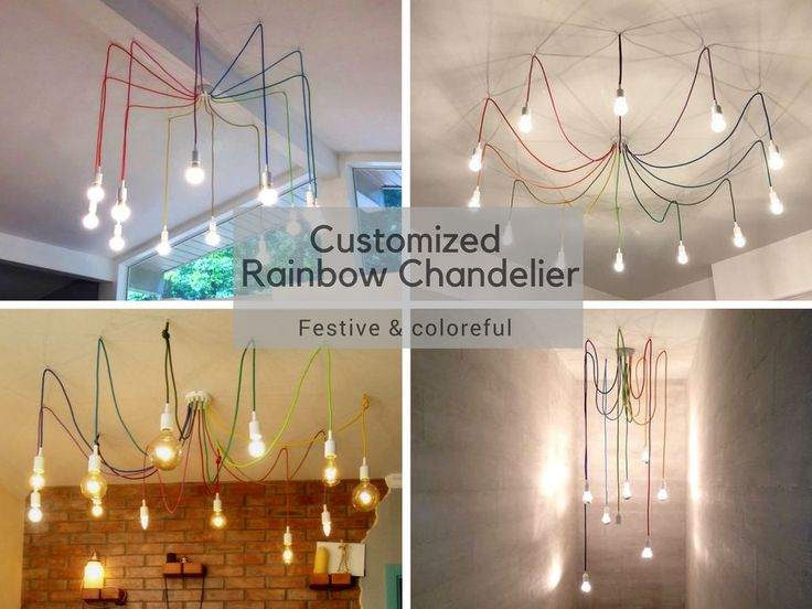 36 best fabric cable big chandeliers images on pinterest big rainbow chandelier textile covered cable of various colors holiday lighting aloadofball Image collections