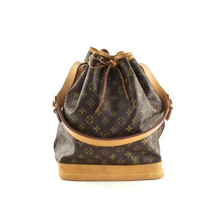 Authentic Louis Vuitton Monogram Canvas Noe Bag at THEBROWNPAPERBAG.NET #authentic #vintage #parisian #luxury #louisvuitton