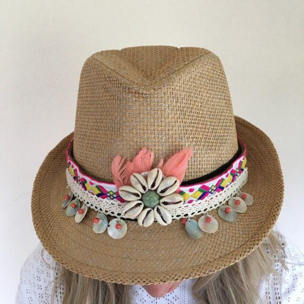 Ibiza hoed licht bruin beach girl