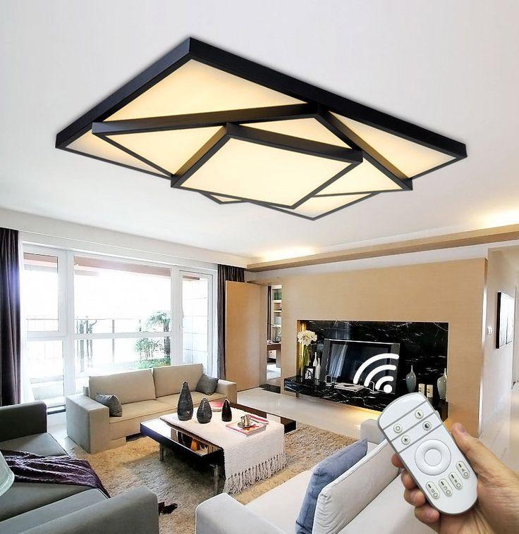 Die besten 25+ Led deckenleuchte mit fernbedienung Ideen auf - deckenlampen wohnzimmer led