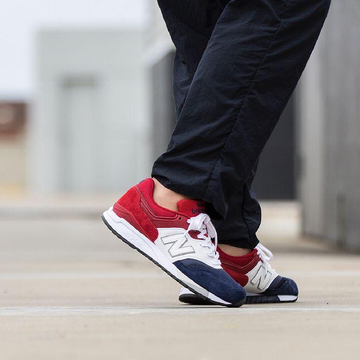 New Balance 9975 Couple Shoes Blue Red ML997CYON