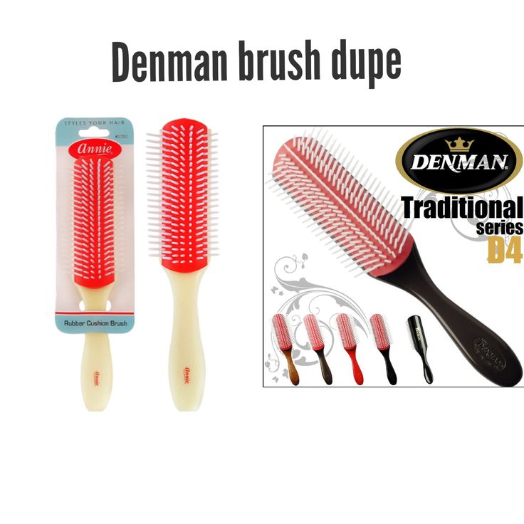 This brush is a great dupe for the original Denman brush! Costs about $1-3. Found mines at the beauty supply store for $3.