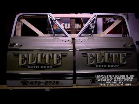 "Hand Painted ""Distressed"" C10 Chevy Truck door lettering - YouTube"
