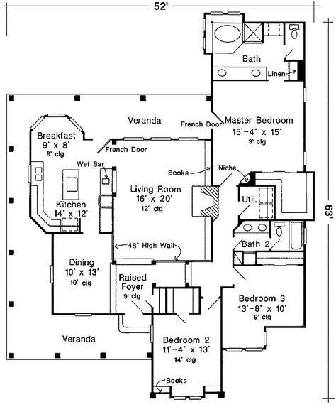 47 best House plans images on Pinterest | Floor plans, Craftsman ...
