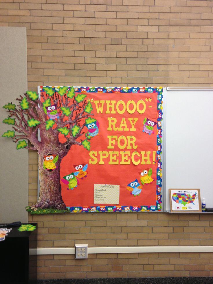 my first speech bulletin board
