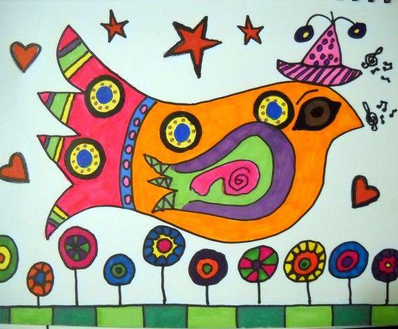 Artist Annie Green - Beaumont, Texas. Folk Art Bird.: Artists Shops, Birdsfolk Art, Birds Folk Art, Apartment Ideas, Artists Annie, Folk Artists, Folk Art Projects For Kids, Art Journaling, Folk Art Birds