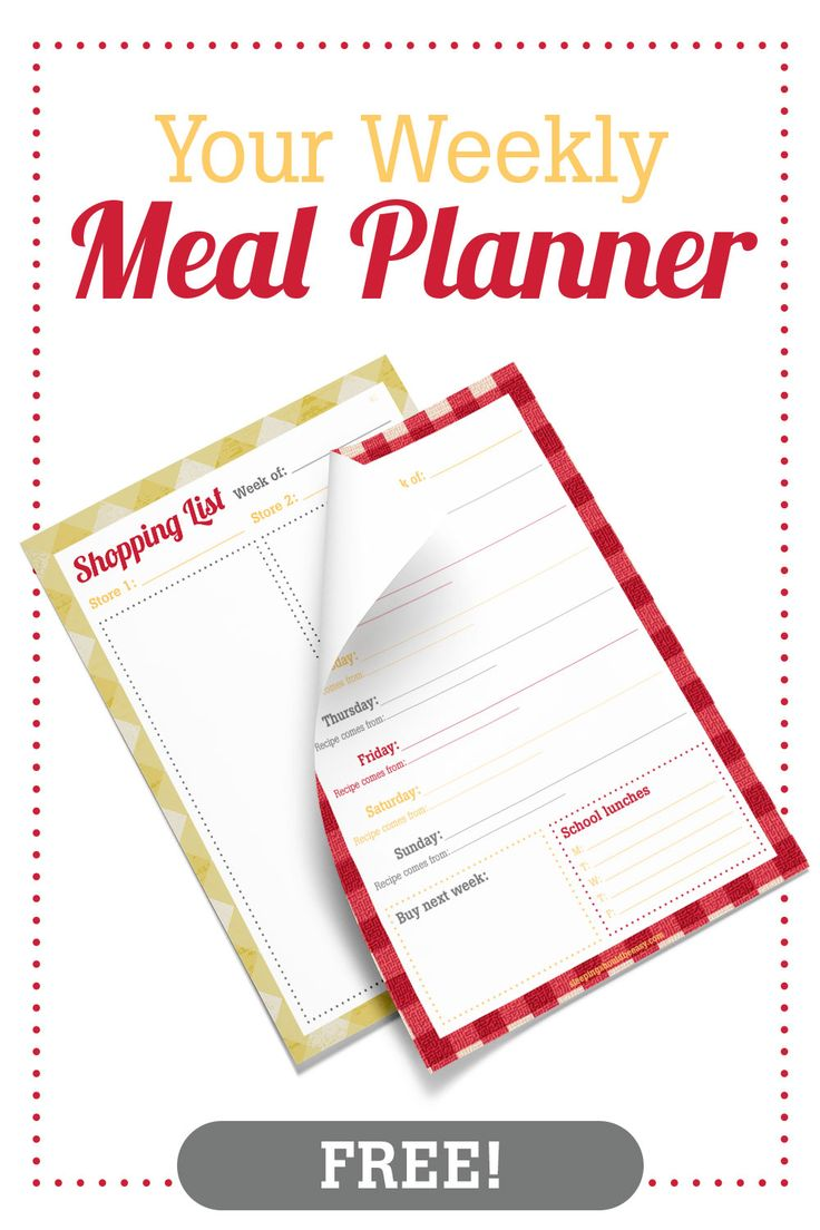Planning meals and menu helps families eat healthy and manage their budget…