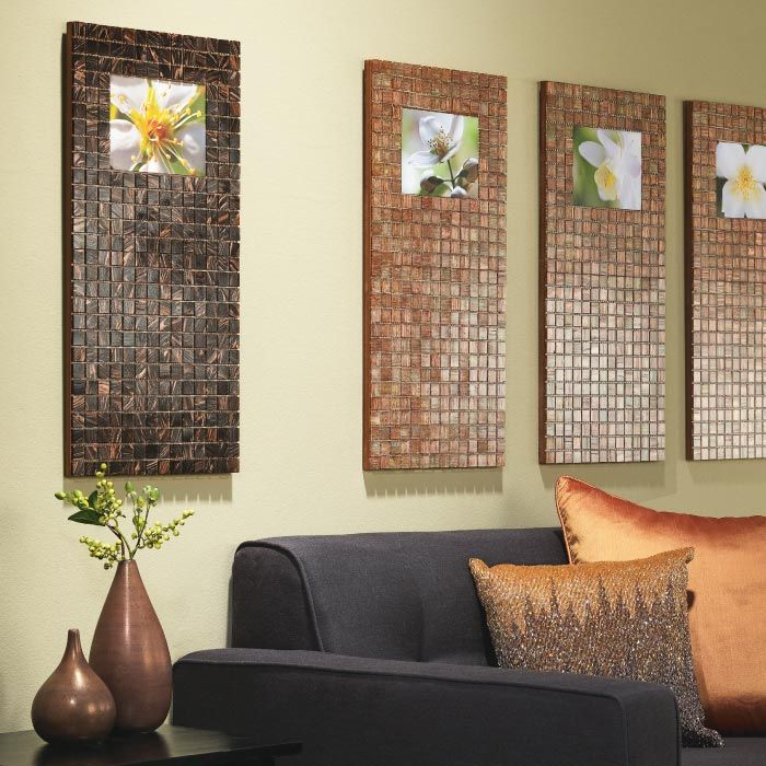 Customized Tile Photo Frames | My Home My Style eNotes..using MDF 1/2 inch thick from home depot clear arcylic spray....cut to desired size...