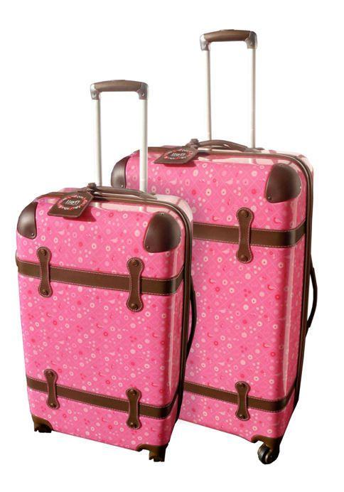 LIEF!! Trolley koffer set/2 Around the World roze | Lief! | LEDERTREND